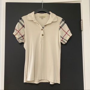 Burberry Polo w/Puffed Sleeves Sz L